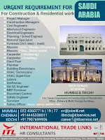 Construction & Residential Work Vacancy Saudi Arabia