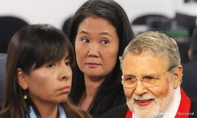 Ernesto Blume Fortini, y la abogada de Keiko Fujimori, Giulliana Loza Ávalos
