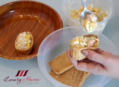 delicious mango egg mayo inari age appetizer recipe
