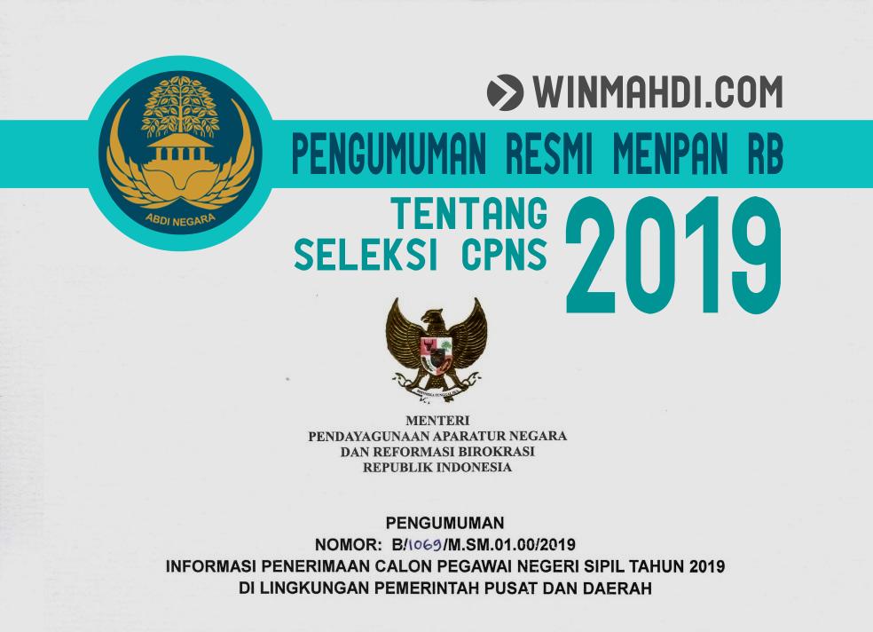 Pengumuman Resmi Menpan RB Tentang Jadwal dan Formasi CPNS 2019
