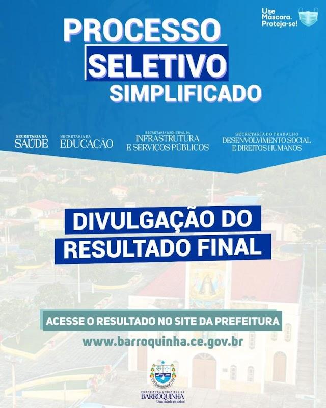 Prefeitura de Barroquinha divulga resultado final do processo seletivo 2021