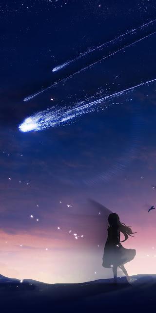Sao rơi giữa bầu trời