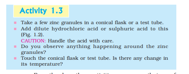 Chemical Reactions and Equations (Activity Based Questions & Answers) : Chapter 1 | Study Dost