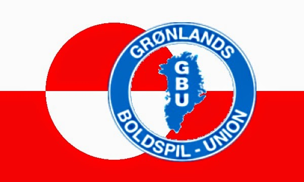 The Greenland Football Federation badge, and Greenland's flag