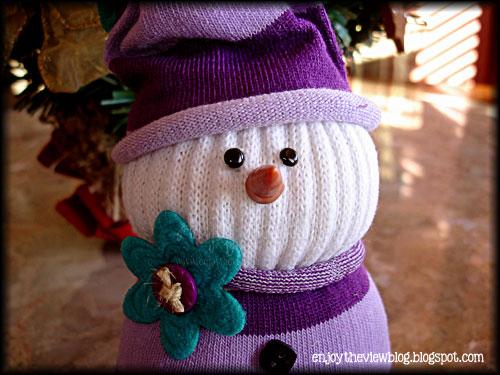 cute sock snowman