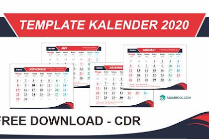 Download Template Kalender 2020 CRD Lengkap Dengan Jawa & Tanggal Merah Gratis