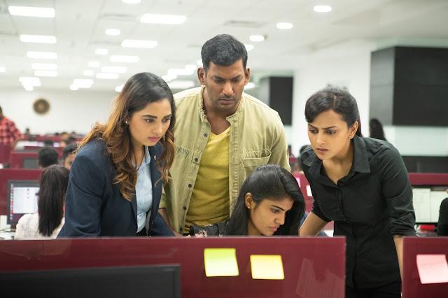 Chakra movie High quality stills featuring Vishal Shraddha srinath