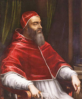 Pope Clement VII, captured by Sebastiano del Piombo, complete with beard