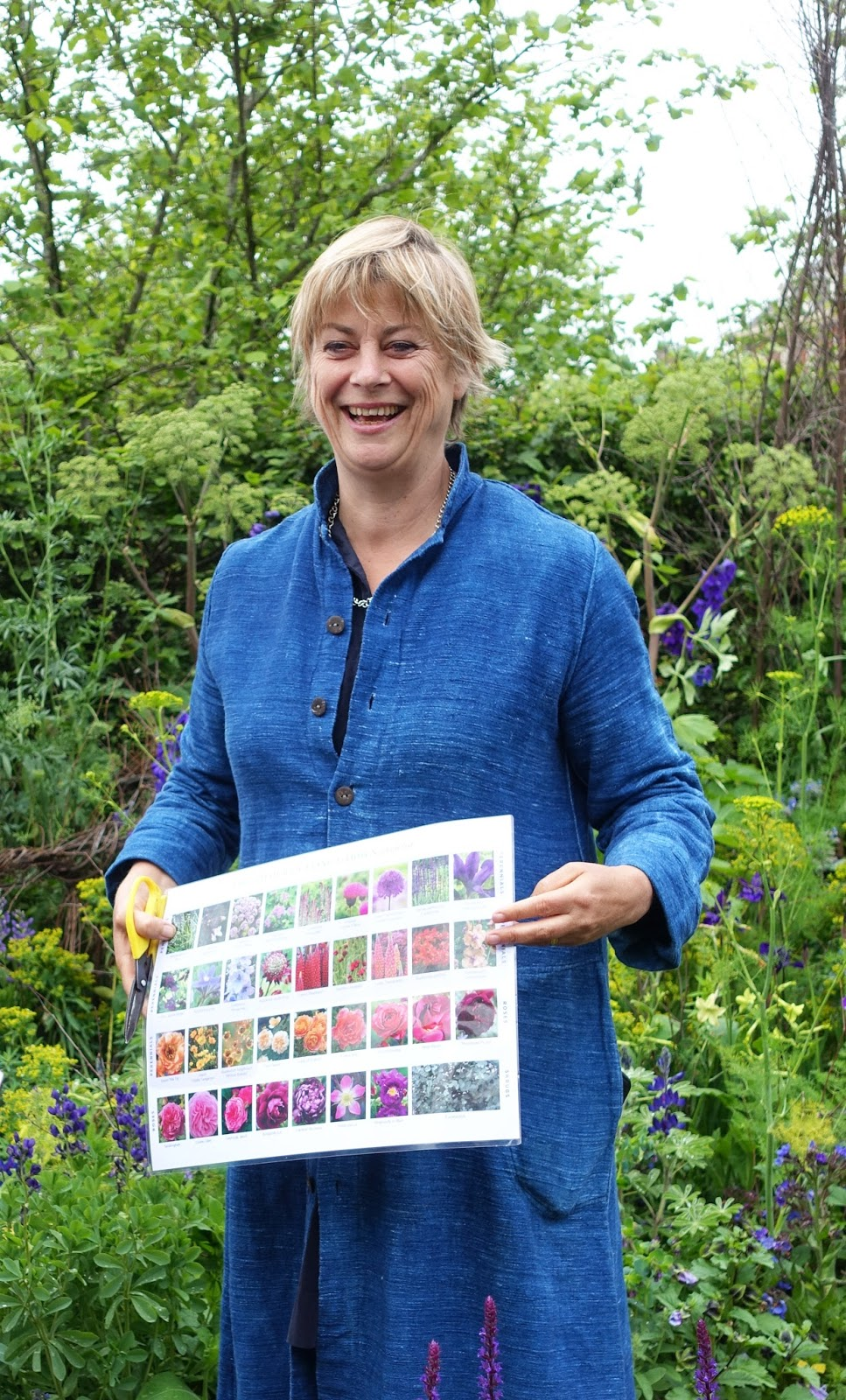 TV personality and gardener Sarah Raven from Perch Hill Nurseries