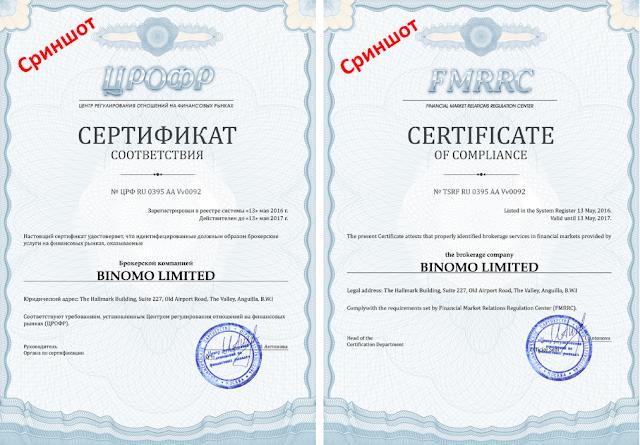 Binomo Limited ЦРОФР и IFMRRC