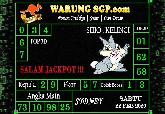 Prediksi Togel JP Sidney 22 Februari 2020 - Prediksi Warung SGP