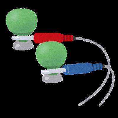 心電図の電極のイラスト(吸盤)