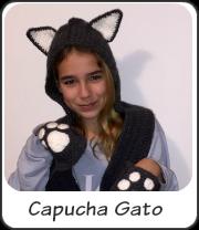 Gorro gato con bufanda