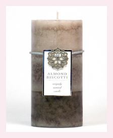 Pecan st. Candles, Spa sets, and more, Is it Monday, yet? blog item of the week, Almond Biscotti Pillar Candle, 3x6
