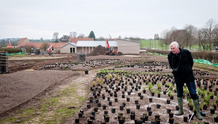 Diseño de plantacion Piet Oudolf en Hauser & Wirth Somerset