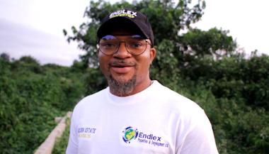 Walter Anga Receiving A Plot of Land At Eneka