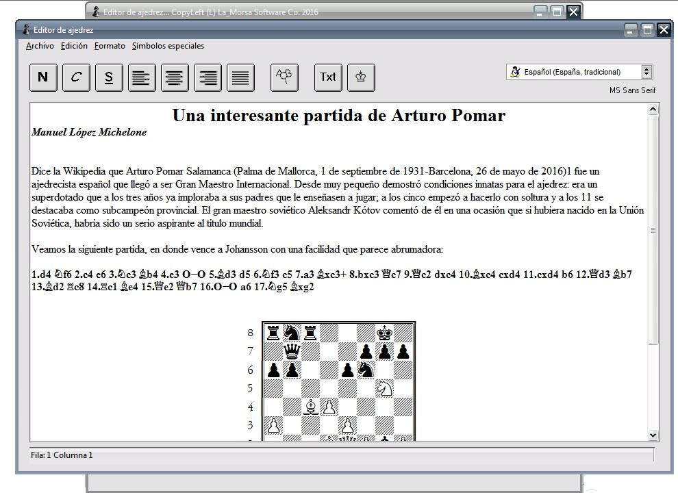 Blog de La_Morsa: Nueva versión del Editor de Ajedrez