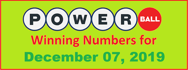 PowerBall Winning Numbers for Saturday, December 07, 2019
