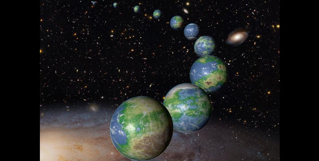 An artist's conception of Earth-like planets. (Credit: NASA/ESA/G. Bacon (STScI))