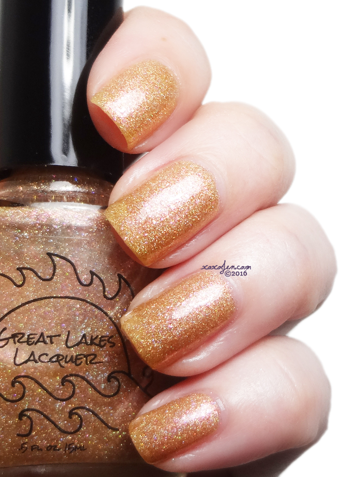 xoxoJen's swatch of Great Lakes Lacquer Fools Gold