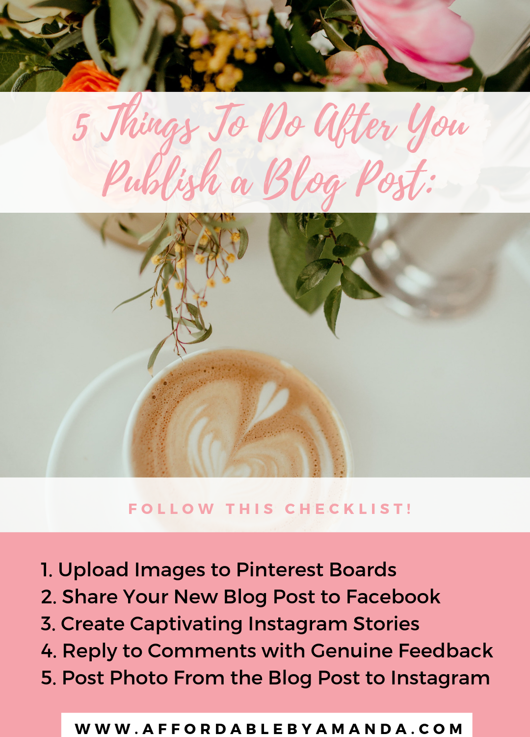 5 Things To Do After Publishing a New Blog Post : Amanda Burrows New Blog Post