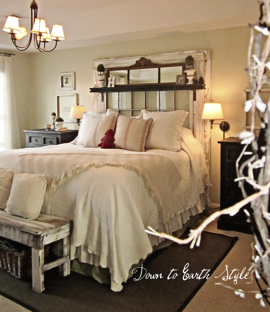 Country Bedrooms: Down To Earth Style: Wall Colors