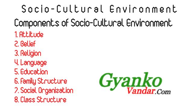 Socio-Cultural Environment: Concept and Components | Socio-Cultural Environment
