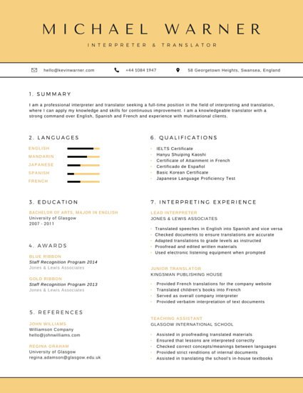 linguist resume sample linguist resume new grad entry level