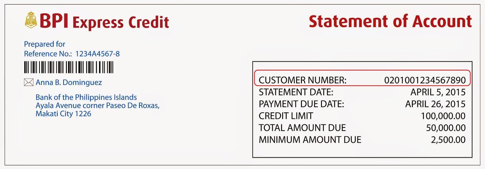 bpi credit card online statement