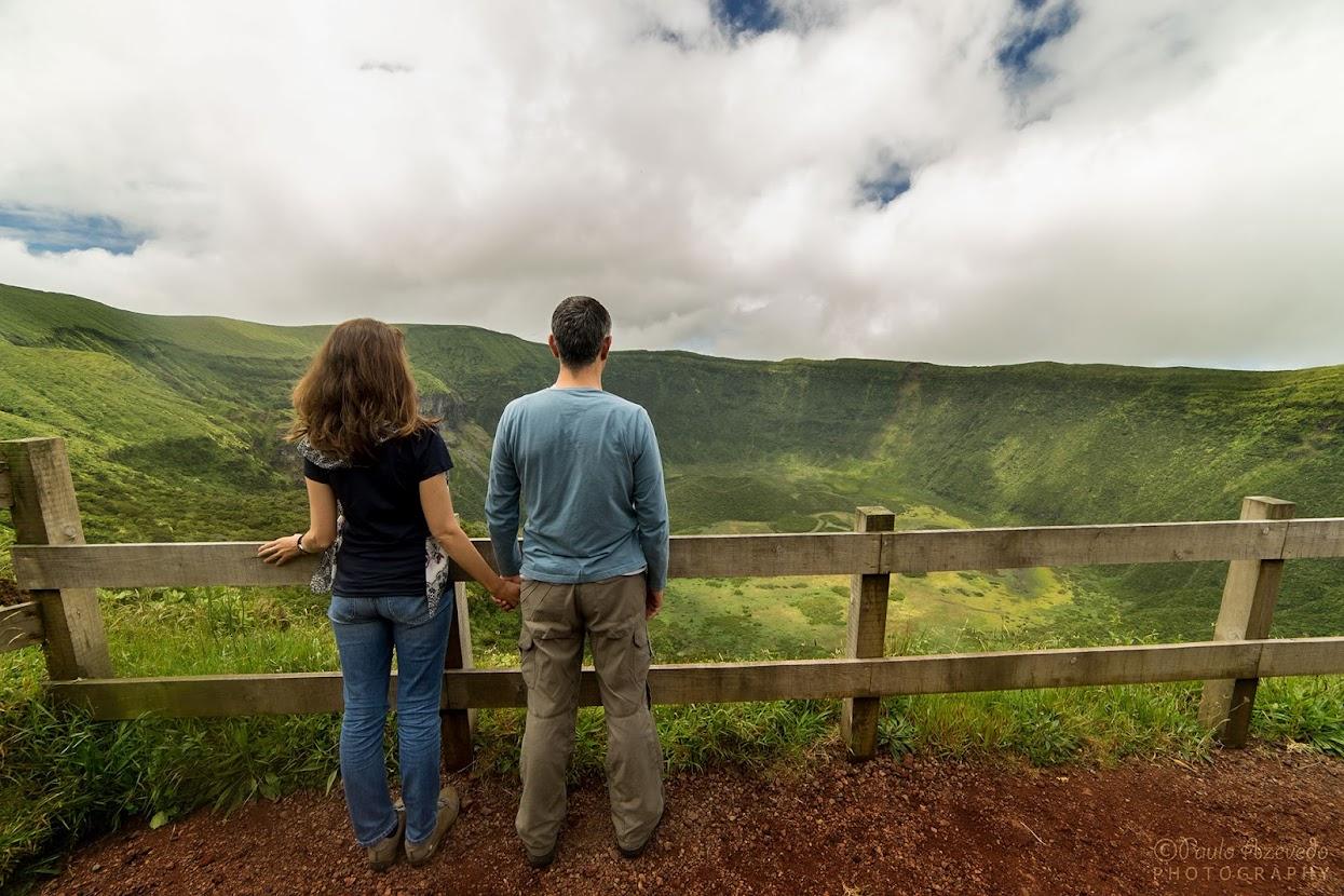Vista para a Caldeira da ilha do Faial