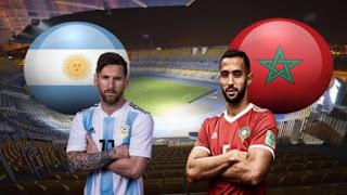 القنوات الناقلة ماتش المغرب و الارجنتين