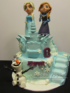 Bolo de aniverário Castelo Frozen