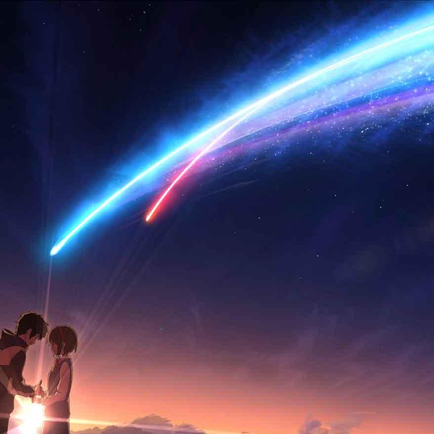 A+ anime live video background with tiamat comet (君の名は kimi no na wa) 4K 60FPS Kimi no Na wa (Your Name) Live Wallpaper Engine ...