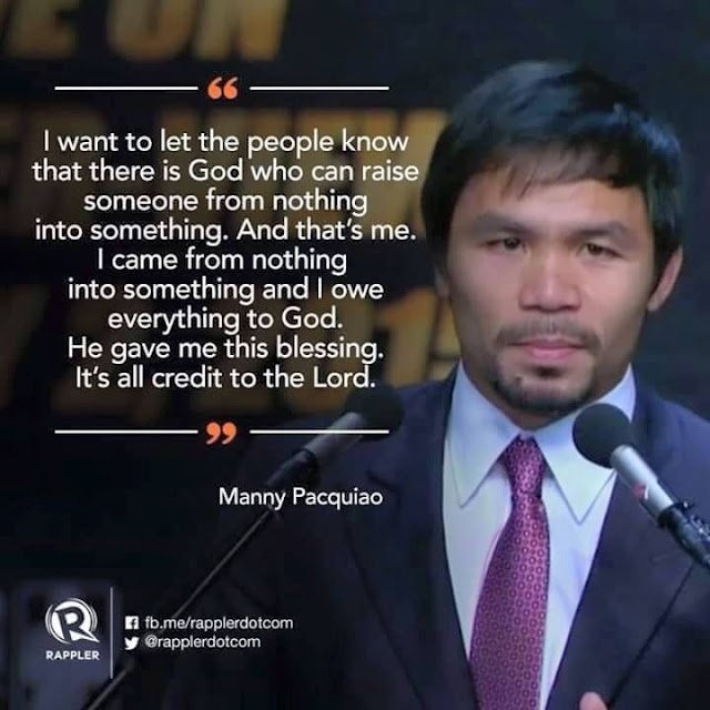 Manny Pacquiao Shares His Testimony How He Found Christ (Biography + Video)