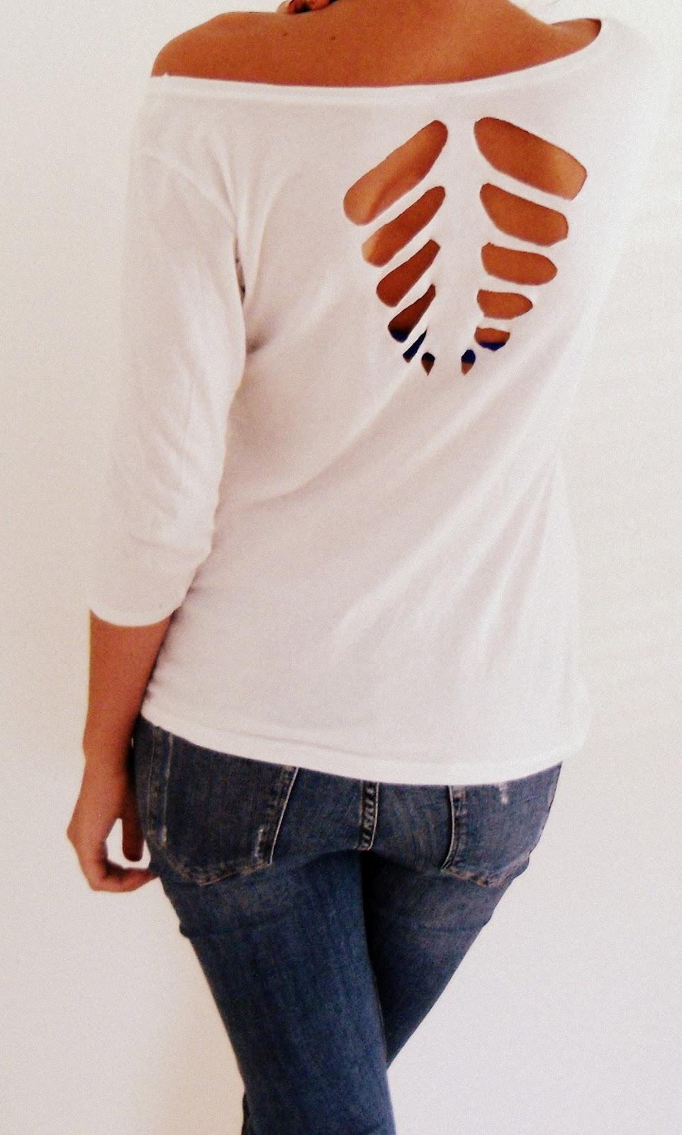 Berühmt daisyadore: DIY 1- Cut out Shirt #NS_64