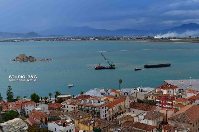 Δ. Κωστούρος: Σε φάση ολοκλήρωσης η εκβάθυνση του λιμανιού στο Ναύπλιο