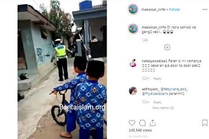 Viral! Polisi Lakukan Razia Motor di Gang Kecil, Netizen: Sekalian Aja Door to Door