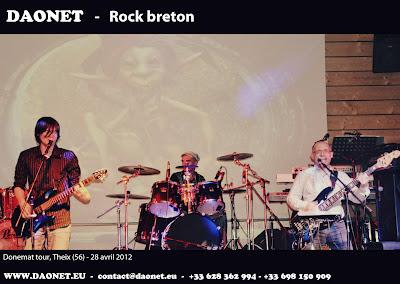 Daonet rock breton et celtique sur scène à Theix (56) le 28 avril 2012