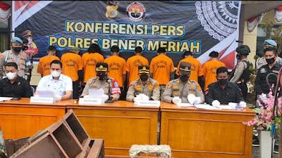 Satres, Polres Bener Meriah Tangkap 8 Orang Pelaku Pencurian