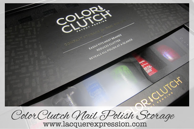 review of the Color Clutch nail polish storage case in black