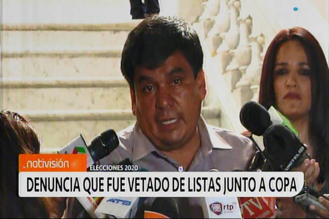 Aguilar denuncia que junto a Eva Copa fueron vetados por Evo desde Argentina