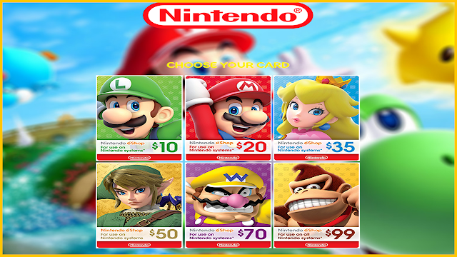 Free Nintendo Gift Card Generator 2021