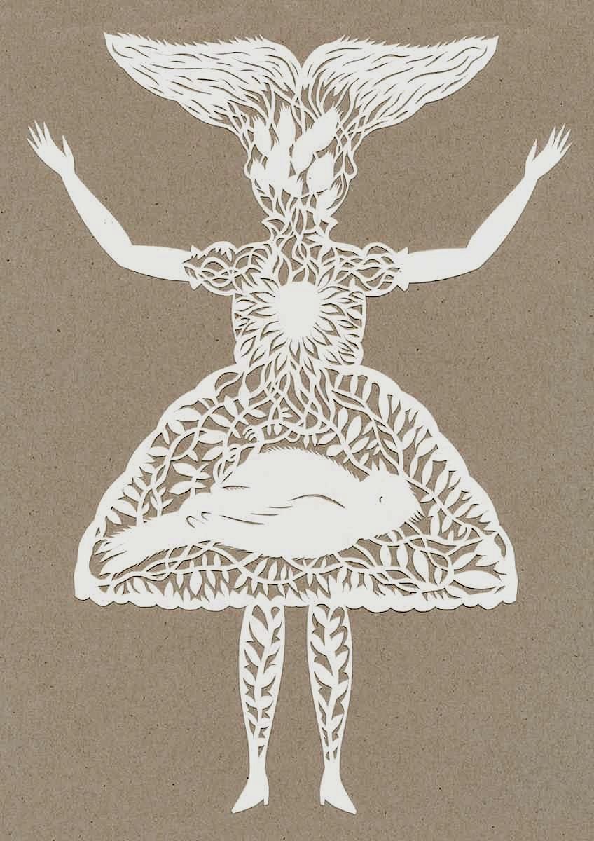 An Elsa Mora papercut