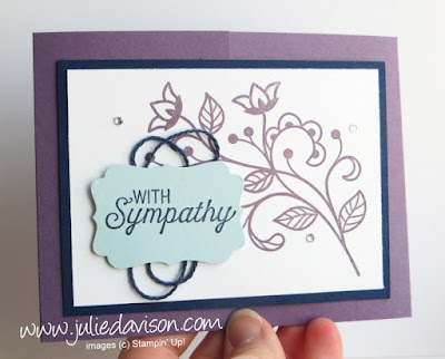 Stampin' Up! Flourishing Phrases Sympathy Gate Fold Card for #GDP081
