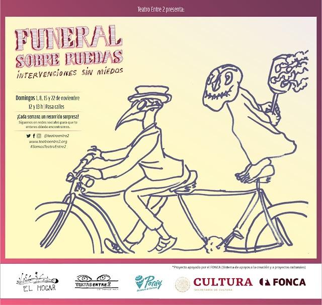 Funeral sobre ruedas, tributo a los muertos en noviembre en la CDMX