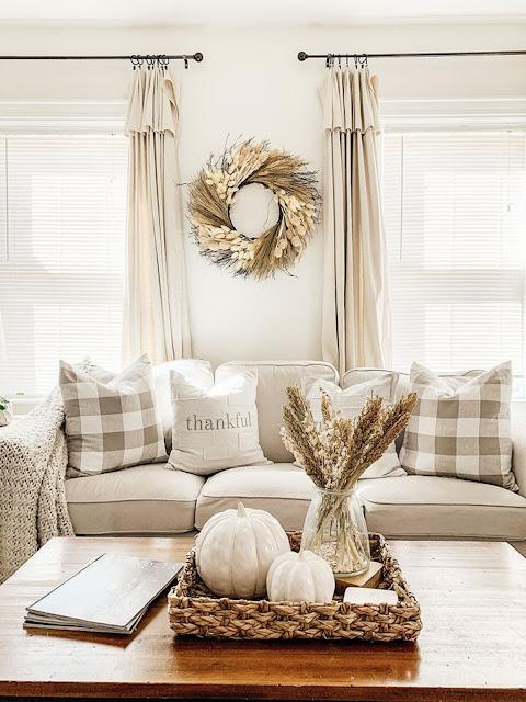 neutral fall living room
