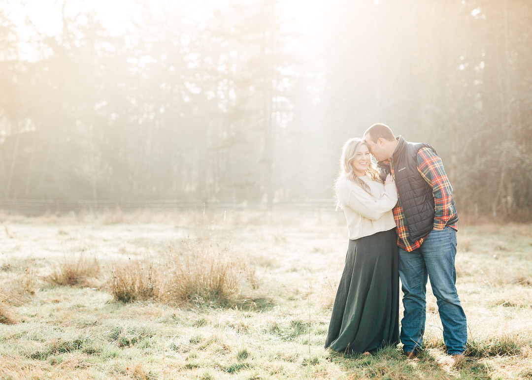 Fall Farm Engagement Session by PNW Photographer Something Minted