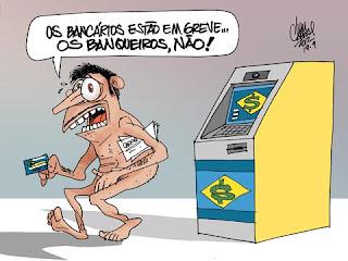 Resultado de imagem para bancário charge
