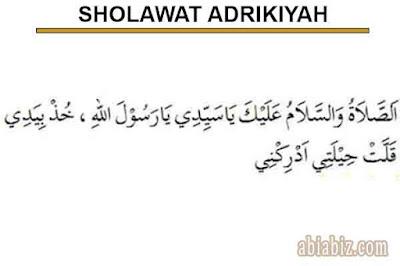 bacaan sholawat adrikiyah