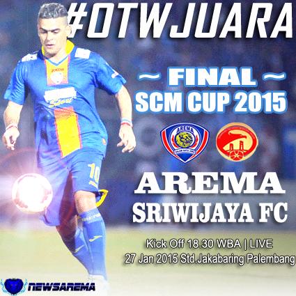 Prediksi Skor Line Up Sriwijaya FC Vs Arema Cronus Final SCM Cup